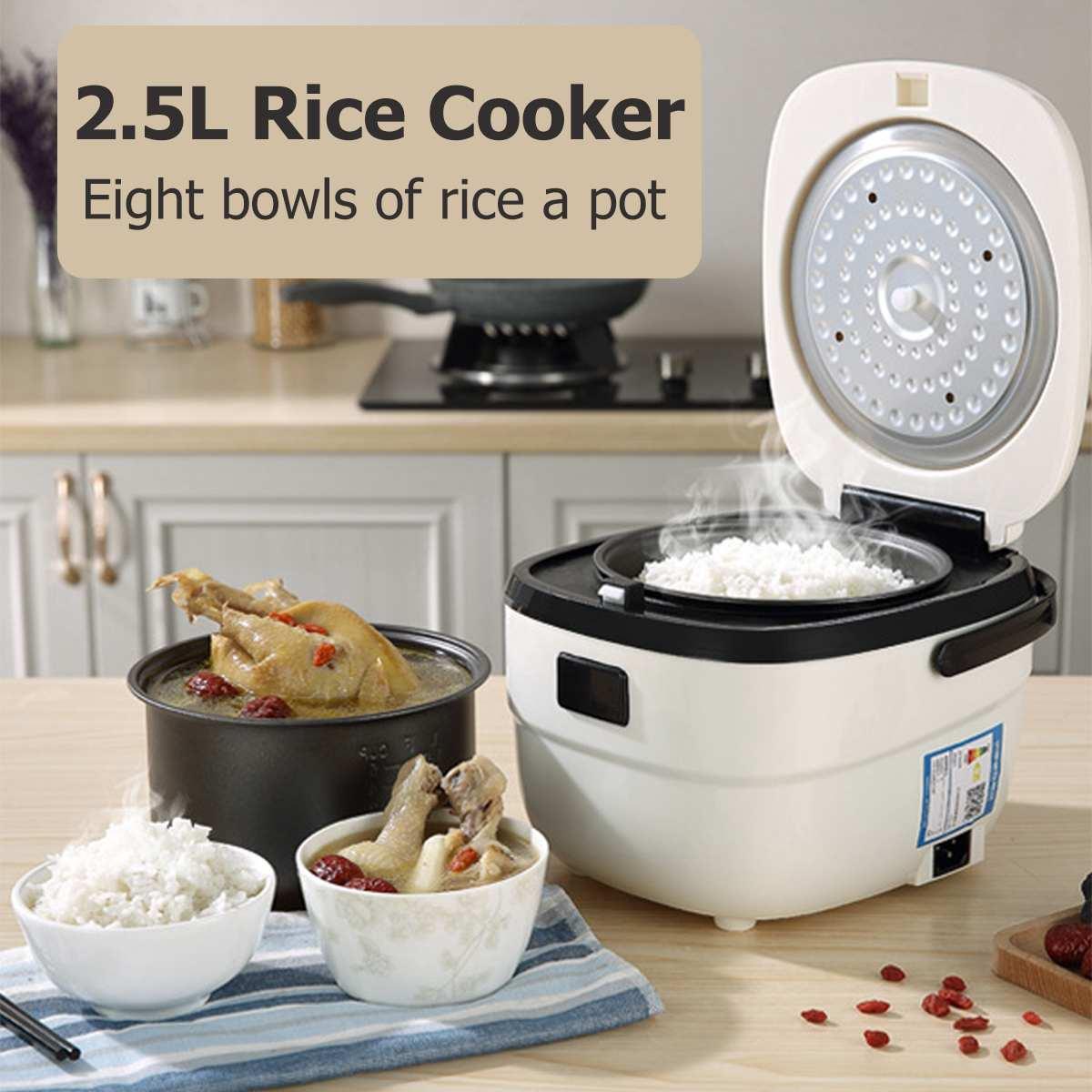 Cuiseur à riz électrique 2.5L cuiseur à riz cuiseur à vapeur multifonction automatique intelligent 5 couches revêtement antiadhésif casserole intérieure