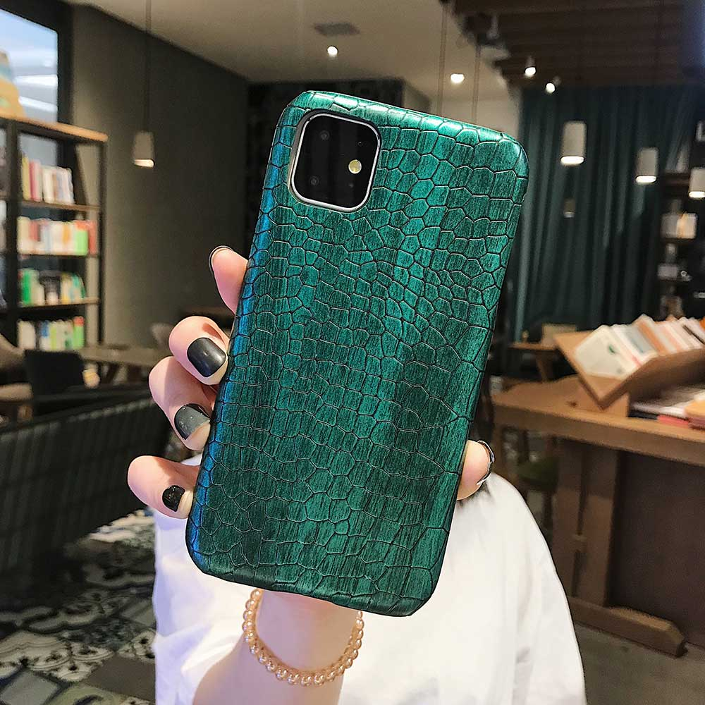 Fashion Cool Crocodile Snake Skin Cover Case With Hybrid Rubber Cape For iPhone Xs Max 15
