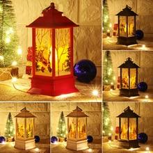 Linterna Led vela Luz de té velas adornos navideños para el Hogar Santa ciervo muñeco de nieve lámpara Navidad decoración ornamento de Año Nuevo