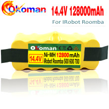High Capacity 12800mAh 14.4V Battery For iRobot Roomba Vacuum Cleaner 500 530 540 550 620 600 650 700 780 790 870(China)