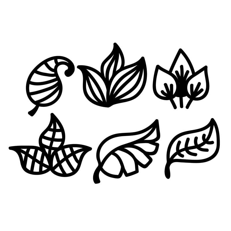 YaMinSanNiO 6 piezas varias hojas plantas troqueles de corte de Metal para hacer tarjetas álbum de recortes troqueles en relieve plantilla artesanal Diecut 2019