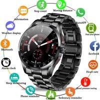 Reloj Digital con correa de acero para hombre, pulsera electrónica con LED, resistente al agua, Bluetooth, llamada en hora, novedad de 2021