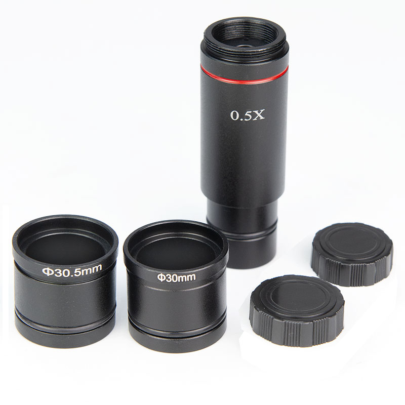 Новое поступление микроскоп камера 0.5x линза редуктора микроскоп 0.5X окуляр c-крепление адаптер для CCD камеры цифровой окуляр