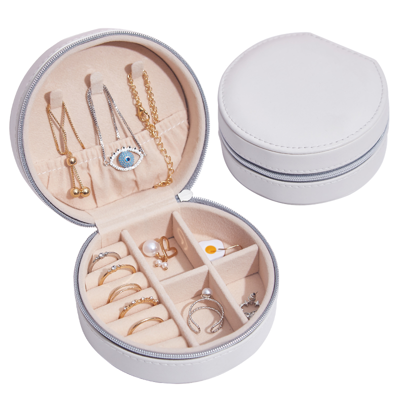 Fashion Shape Jewelry Box Organizer Necklace Ring Bracelet Storage Box Earring Studs Case Woman Gift Portable Container