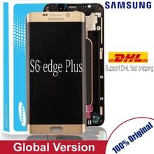 100% מקורי סופר AMOLED LCD עם מסגרת לסמסונג גלקסי s6 קצה בתוספת תצוגת G928 G928F מגע מסך Digitizer עצרת