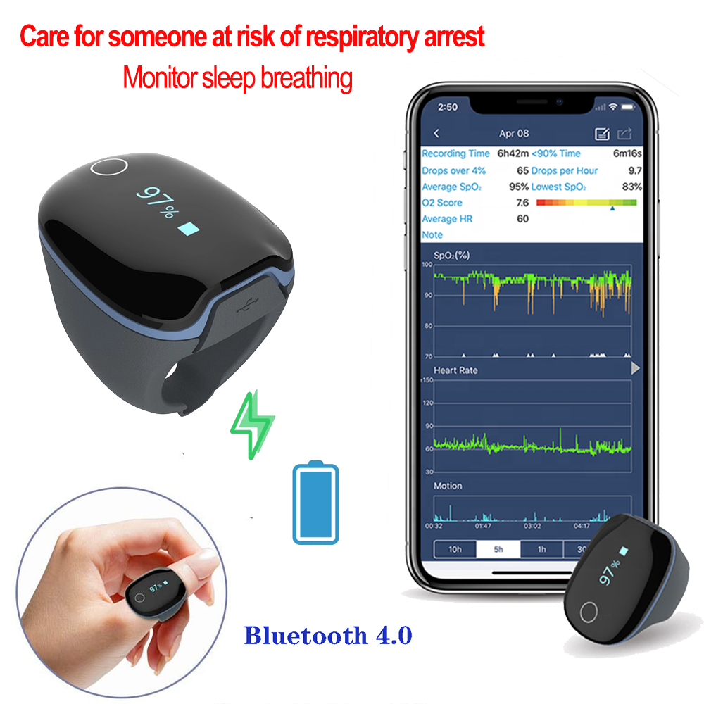 Rechargeable All night sleep monitoring Alarm functions Sleep ring Under The Mattress with Sleep Cycle Analysis