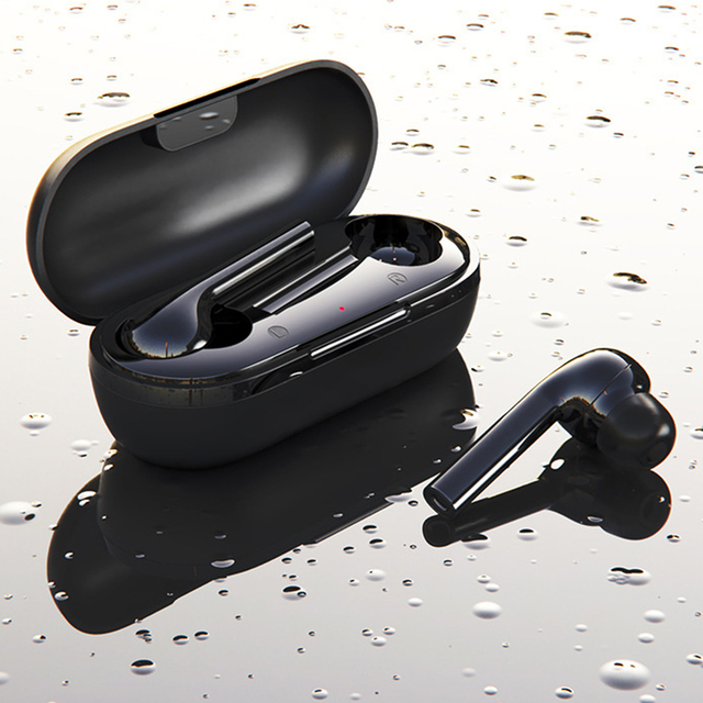 T16 Bluetooth 5.0 Earphones Touch Control Wireless Headphone TWS Stereo Sports Waterproof Earbuds Headset with Charging Box Mic