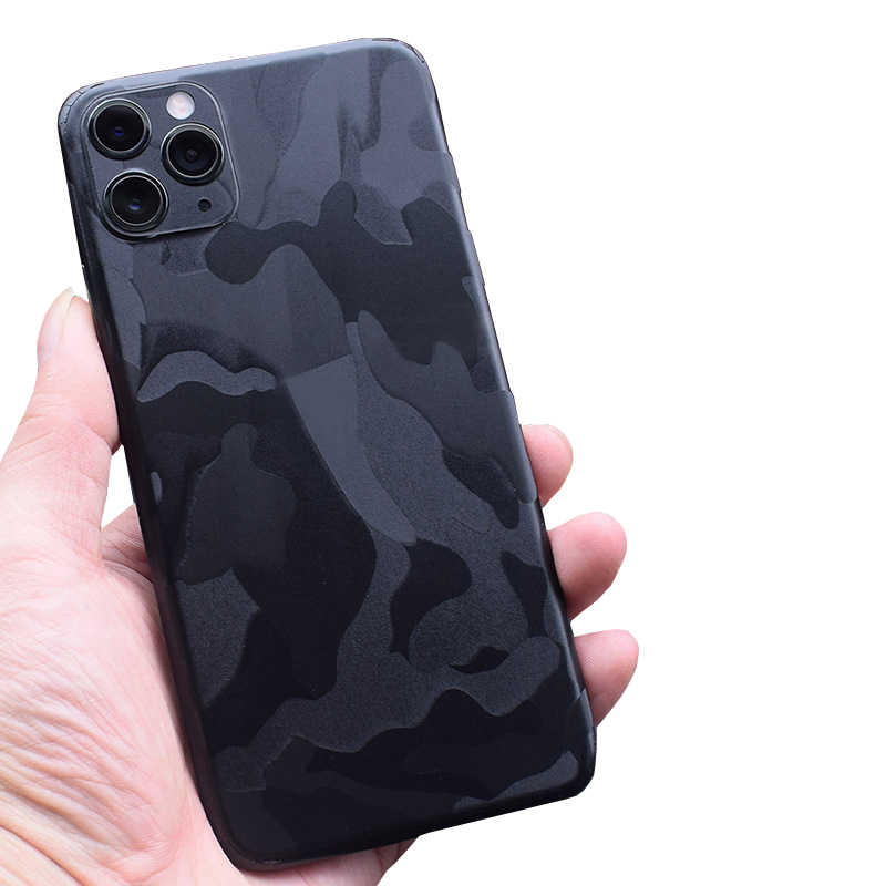 3D Camo/Carbon Fiber Skins Film Wrap Skin Telefoon Back Plakken Sticker Voor iPhone XS MAX XR X 8 7 6 6S Plus Transparant Back Sticker
