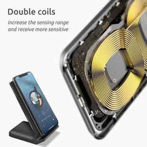 Image 3 - Caricabatterie Wireless DCAE 30W Qi per Samsung S20 S10 nota 20 gemme 2 in 1 supporto di ricarica rapida per iPhone 12 11 XS XR X 8 Airpods Pro