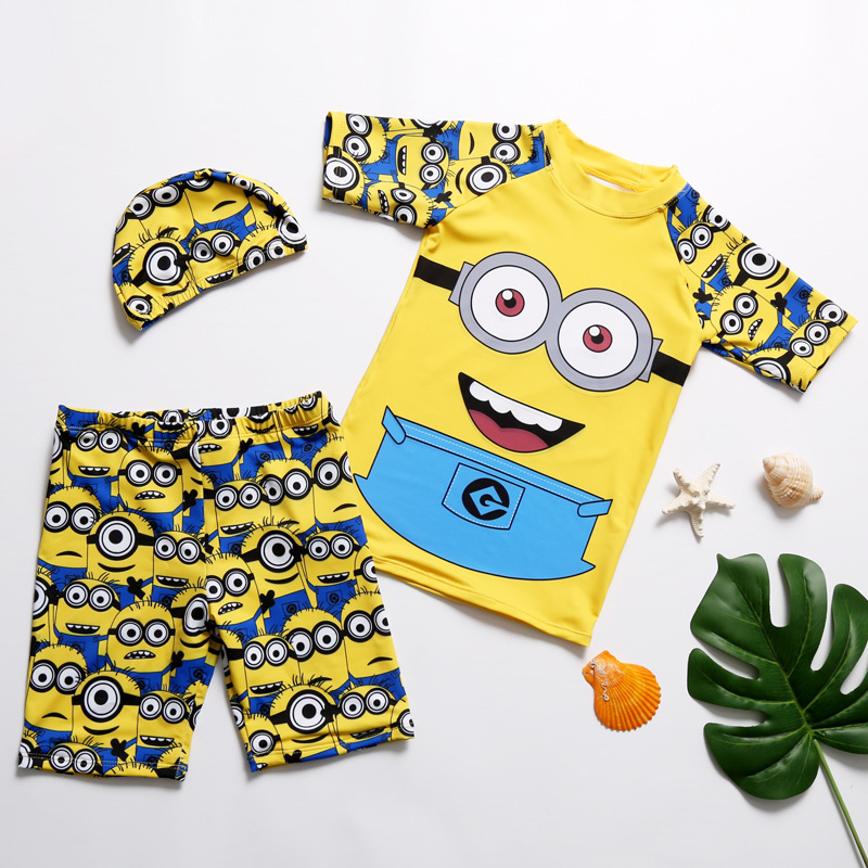 KID'S Swimwear BOY'S Swimming Trunks Set Boy Split Type Big Boy Tour Bathing Suit Baby Coat