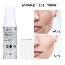 PHOERA-Crema de maquillaje transparente, base de aceite para poros, maquillaje hidratante duradero, leche, ilumina la piel, fluido de aislamiento, TSLM1