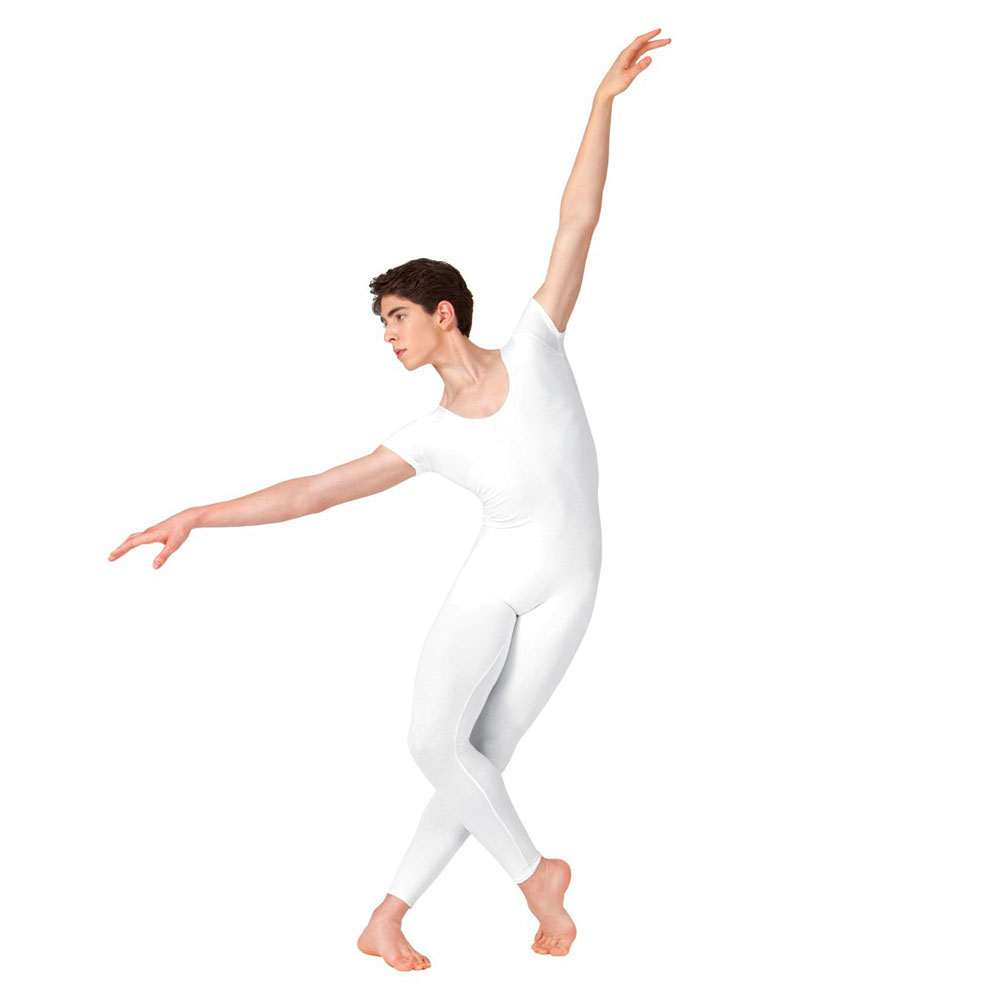 Adult Mens Unitard One Piece Lycra Ballet Short Sleeve Full Body Tight Jumpsuit Unitards Dance Costumes Bodysuit