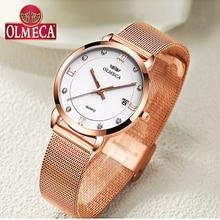 цена на Top Brand Luxury Women Watches OLMECA Watch Fashion Relogio Feminino Casual montre femme Waterproof Wrist Watch Leather Band