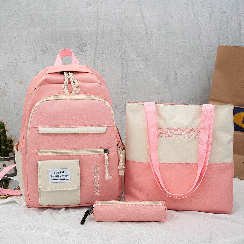 mochilas escolares para meninas adolescentes criancas conjunto 04