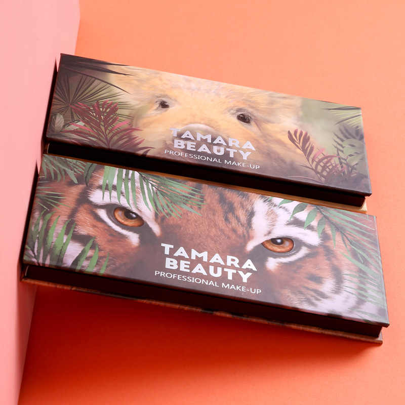 อายแชโดว์ 12 สีที่มีสีสันกันน้ำคอนซีลเลอร์แต่งหน้า Palette Lasting-Effect สัตว์หมูเสืออายแชโดว์