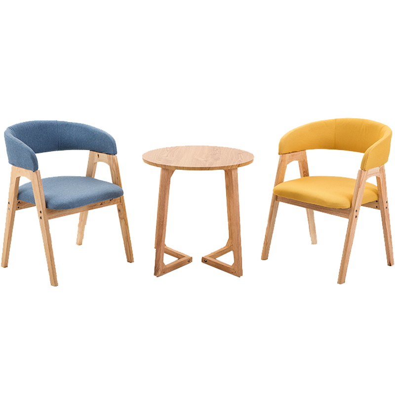 Dining Chair Nordic Restaurant Cafe Dessert Shop Network Red Chair Negotiate Solid Wood Chair Modern Simple Milk Tea Shop Tables
