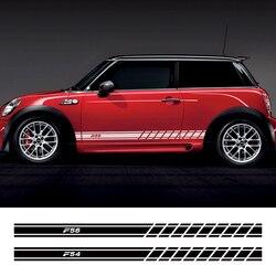 2 sztuk samochodów drzwi boczna dokładka naklejki kalkomanie dla Mini Cooper F56 F54 F57 F55 F60 R50 R52 R53 R55 R56 R57 R58 R59 R60 R61 akcesoria w Naklejki samochodowe od Samochody i motocykle na