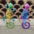 Wall Hanging Gecko Artworkd Decorative Lizard Outdoor Garden Decor Gecko Ornaments Garden Yard Metal Wall Art Yard Art Decor