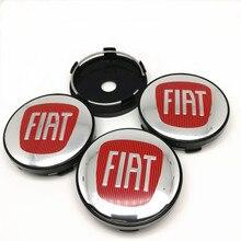 4pcs 60mm For FIAT Wheel Center Hub caps Car Styling Rims Hub Cover 56mm Badge Emblem Stickers