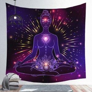 Image 3 - Notte stellata Galaxy Decor Psichedelico Arazzo Appeso A Parete Indiana Mandala Arazzo Hippie Chakra Arazzi Boho Panno Parete