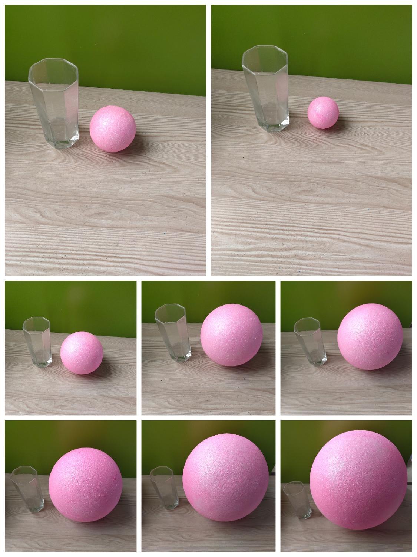 Pink Polystyrene Styrofoam Foam Ball Party Wedding Festival Stage House Decoration DIY Handmade Materials 15-30cm(diameter)