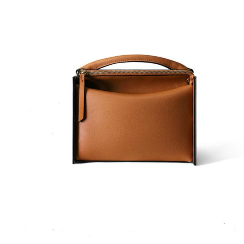 Genuine Leather Women bag 2019 New fashion Wild customized commuter bag temperament soft leather shoulder Messenger bag