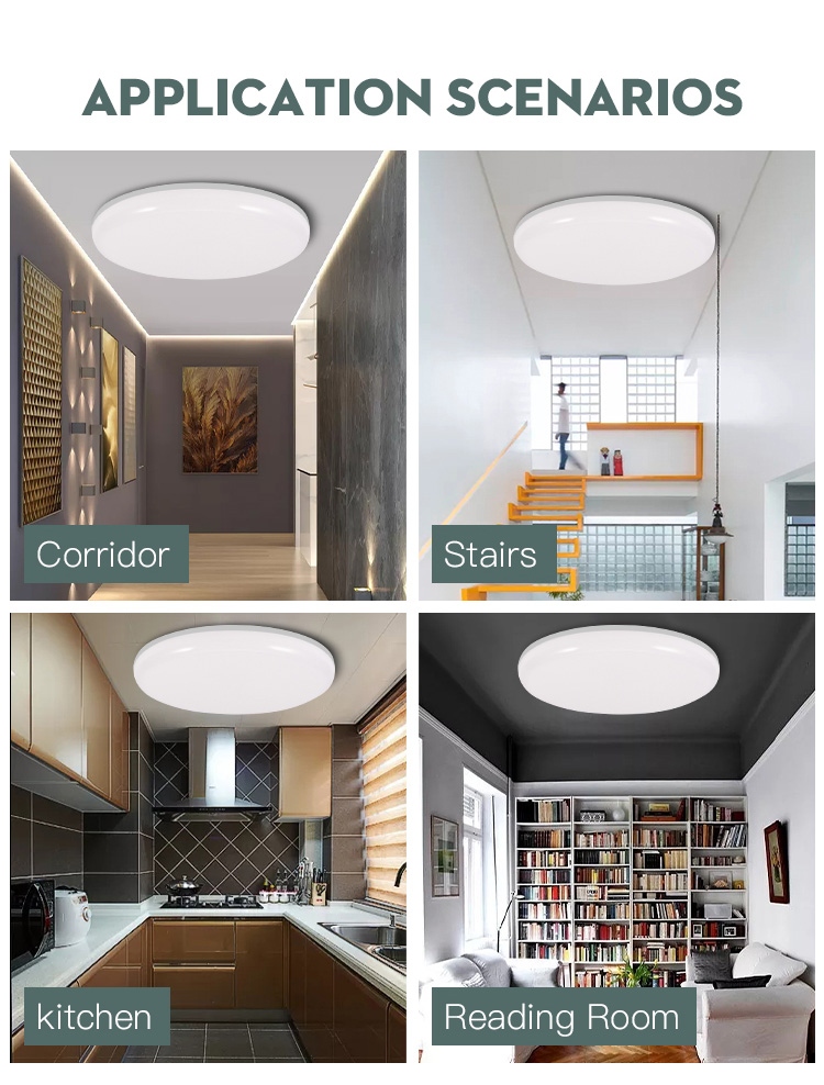 H9fb9aa4391304fc88051a5507c20a9aeJ Led Ceiling Lights Modern LED Ceiling Lamp Light 220V 15W 20W 30W 50W Cold Warm White  Lighting Surface Mounted For Home Kitchen