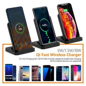 Image 5 - Soporte de cargador inalámbrico para iPhone, ventilador de refrigeración de 10W, cargador de inducción de carga inalámbrica para iPhone X, XR, XS, 8 Plus, Samsung S8, S9, S7