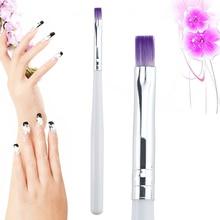 1PC Nail Brush Gel Drawing Painting Brush Pen Nail Art Brush Beauty Tool Purple Hair With White Handle