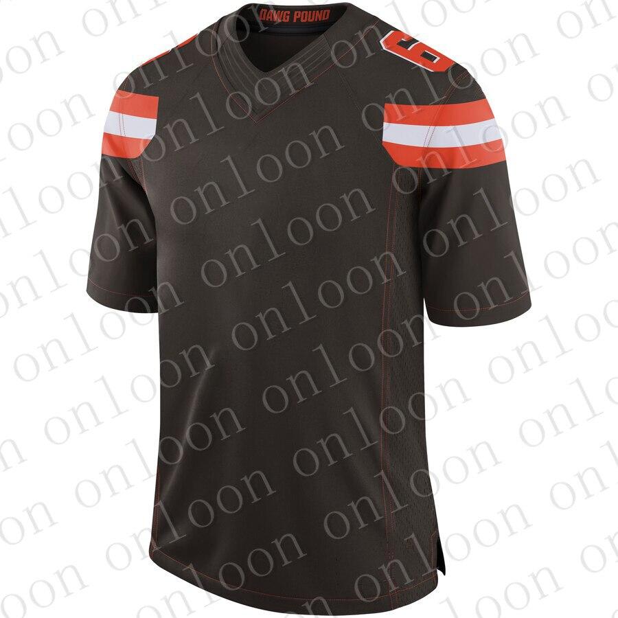 Color Men 2020 American Football Cleveland Sport Fans Wear Denzei Ward Myles Garrett Jim Brown Joe Thomas Johnny Manziel Jerseys