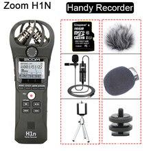 Ban Đầu ZOOM H1N Tiện Dụng Đầu Ghi Hình Máy Ảnh DSLR Video Âm Thanh Cuộc Phỏng Vấn Micro Stereo Với 16GB Thẻ BY M1 Lavalier Microphone