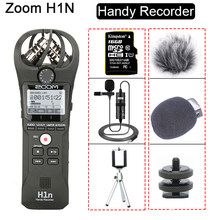 ZOOM Original H1N H1N Handy Recorder DSLR Audio Video entrevista Micrófono estéreo con tarjeta de 16GB BY-M1 micrófono Lavalier