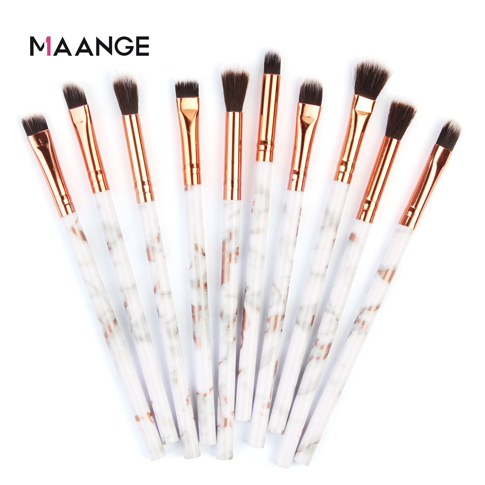 MAANGE Multifunctional 5/7/10pcs Marbling Makeup Brushes Set Eyeshadow Eyeliner Concealer Brush Set Mini Make Up Brush Tool Kit