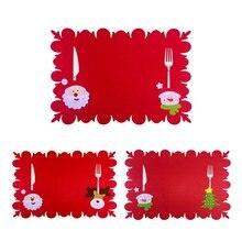 6 шт рождественские ножи салфетка для вилки мультяшный Санта