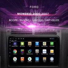 Автомобильный DVD-плеер для Ford Mondeo (2000-2007), автомобильное радио, мультимедийный видеоплеер, навигатор GPS, Android 10,0, двойной Din