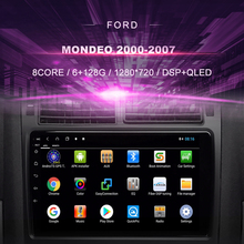 รถDVDสำหรับFord Mondeo (2000 2007) รถวิทยุเครื่องเล่นวิดีโอมัลติมีเดียระบบนำทางGPS Android 10.0 Double Din