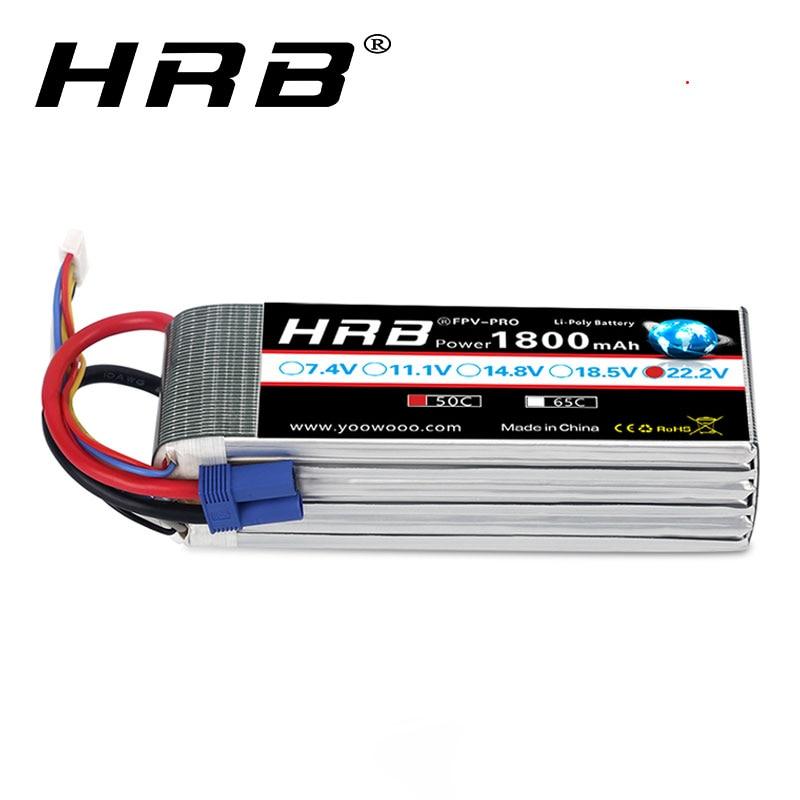 HRB RC Battery 22 2V 1800mAh 50C 6S Max 100C Lipo Battery AKKU RC Lipo FPV