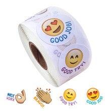 500pcs 1 inch volume 4 design smiley stickers creative expression school teacher reward children's toy