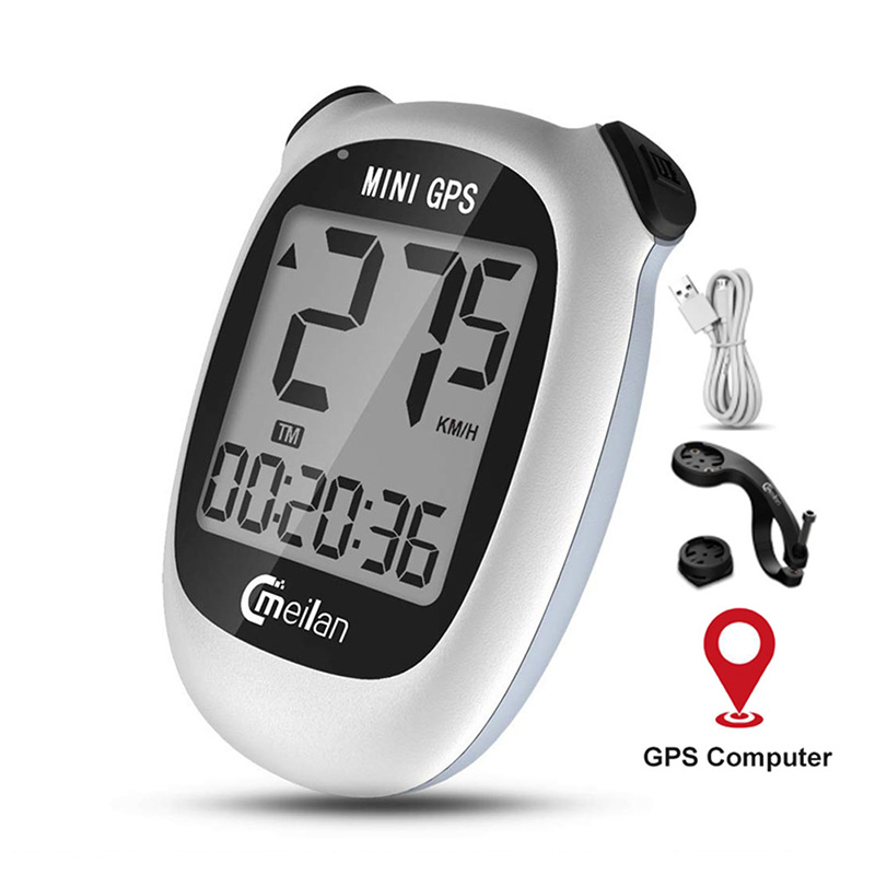 Meilan M3 Mini <font><b>GPS</b></font> Bicycle <font><b>Computer</b></font> Wireless Speedometer <font><b>Bike</b></font> Odometer Speed Altitude DST Waterproof Cycling <font><b>Computer</b></font> image