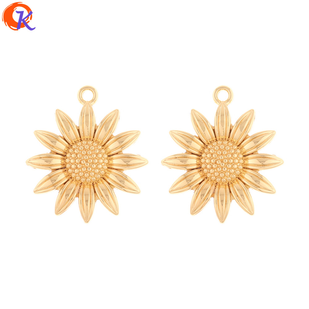 Cordial Design 100Pcs 24*27MM DIY Jewelry Making/Earrings Charms/Flower Shape/Hand Made/Earring Findings/Jewelry Accessories
