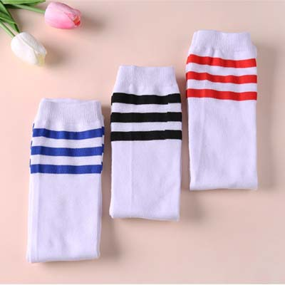CHILDREN'S DAY Children Athletic Socks Performance Stripes Socks Dance Socks Cheerleading Socks Non-with Stripes Stockings