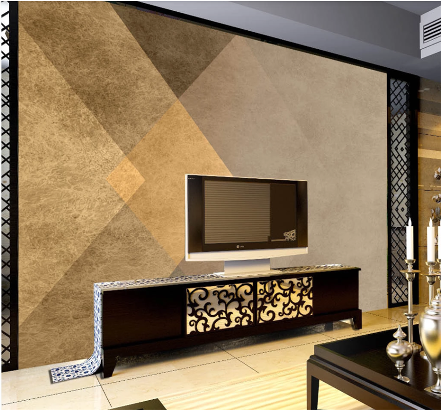 xuesu Gold luxury simple abstract geometric interior decorative wallpaper custom 8D waterproof wall cloth