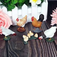 Реалистичные коллекционные игрушки ручной работы, Цыпленок, утка, лебедь, дикие животные, ПВХ Модель, фигурка, Настольная декорация, Детские обучающие игрушки