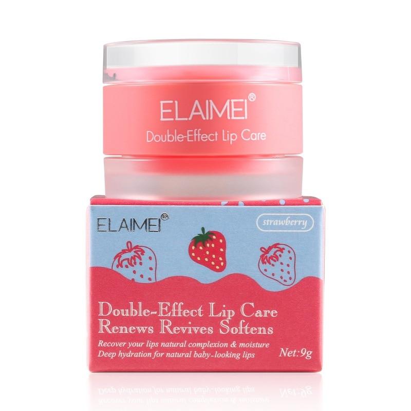 Strawberry Lip Mask Lips Care Jelly Fade Lip Line Moisturizing Lipstick Enhanced Moistening Relieve Dry Repair Lip Mask