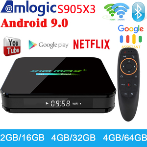Newest X10 MAX Plus TV Box Android 9.0 4GB 64GB Amlogic S905X3 TV Box Smart Media Player Dual WiFi Bluetooth 8K TV Set top box(China)