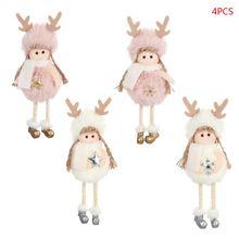 4pcs/set Christmas Angel Plush Doll Toys Xmas Tree Pendants Ornaments Creative Home Decoration