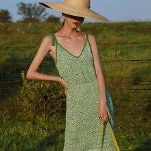 Вязаное пляжное платье, накидка, женское летнее платье макси с бахромой и открытой спиной, сексуальные наряды для плявечерние, накидка A741