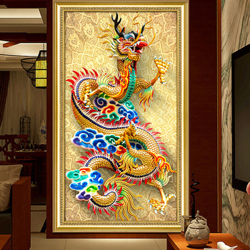Zooya Stitch Diamond Painting Dragon Diamond Embroidery 5D Painting Cross Stitch Diamond Painting 5D Mosaic Gift Handmake Jq619 фото