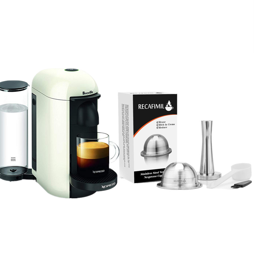 SMALL Coffee Filters For Nespresso Vertuo Vertuoline Plus & Delonghi ENV150 Stainless Steel Refillable Reusable Capsule Pod