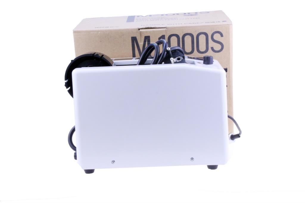 Купить с кэшбэком M-1000S 18W Automatic Tape Dispenser Electric Adhesive Tape Cutter Cutting Machine 5-999mm automatical high temperature tape cut